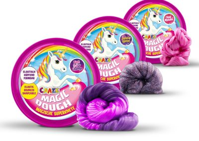Craze 58917 - Intelligente Superknete, Magic Dough Unicorn, circa 80 g in Dose, BPA- und glutenfrei, Sortiert2