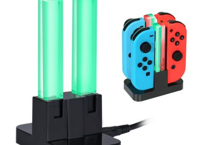 KINGTOP 4 in 1 Ladegerät Nintendo Switch Controller Joy-Con Lade Dock mit LED-Anzeige3