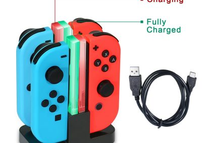 KINGTOP 4 in 1 Ladegerät Nintendo Switch Controller Joy-Con Lade Dock mit LED-Anzeige1