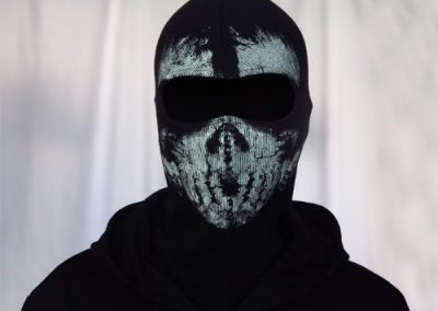 LandPure@ Call of Duty Geister Schädel-Maske Balaclava Hood Ghosts Skull Mask4