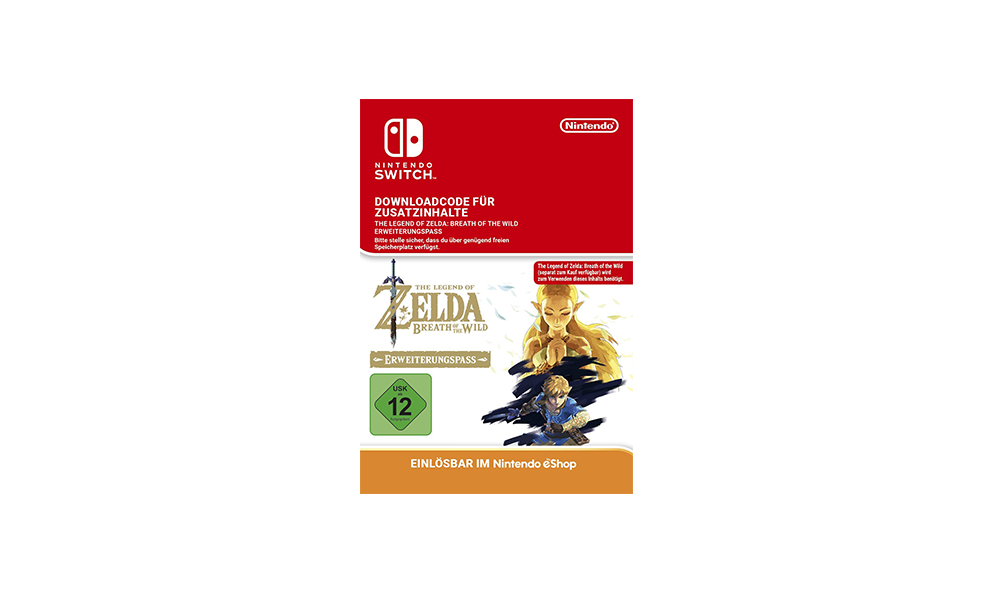 Zelda Breath of the Wild Expansion Pass DLC [Switch Download Code]